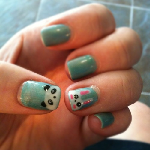 Bunny panda nails by bee (Taken with Instagram at Par Exsalonce Salon And Spa)