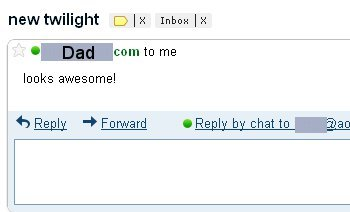 Email from my dad.