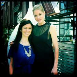 With Victorias Secret model, Doutzen  (Taken with instagram)