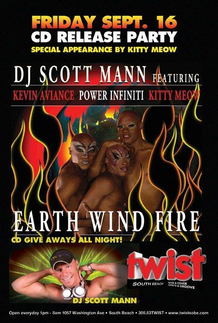 CD Release Party FRIDAY at TWIST! Earth Wind Fire - CD give aways all night! Special performance by Kitty Meow!