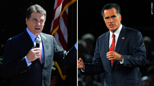 "manicchill:  (image courtesy of CNN) Perry-Romney Rivalry Heats Up: Former Pawlenty Staffers Join Perry's Campaign Even though former Republican presidential candidate Tim Pawlenty is throwing in the towel, it doesn't mean the former Governor of Minnesota's will no longer play a role in the election process. Monday morning, shortly before the Republican debate began, Pawlenty appeared on Fox News to throw his support behind candidate Mitt Romney. From the New York Times:  Mr. Pawlenty, the former governor of Minnesota who ended his quest for the Republican nomination last month, chose Mr. Romney over Gov. Rick Perry of Texas, whom he was close to from their years serving on the Republican Governors Association. Many of Mr. Pawlenty's contributors and supporters had been waiting for a signal from him in the escalating contest between Mr. Romney and Mr. Perry. And Mr. Pawlenty had been looking for help in retiring a campaign debt of at least $500,000. In a statement announcing Mr. Pawlenty as a national co-chairman of his campaign, Mr. Romney said: ""Tim will be a trusted adviser as I move forward with my campaign. Tim has always been an advocate for lower taxes, reduced spending and an environment where jobs can be created. It is an honor to have him serve as co-chair to my campaign for the presidency.""  Unfortunately, it would appear that those who helped make Pawlenty a household name don't share his opinions. This morning, Rick Perry announced the addition of several new staff members to his campaign: From The American Independent:  Texas Gov. Rick Perry today announced additional staff joining his campaign's Iowa leadership team, including five former members of former Minnesota Gov. Tim Pawlenty's 2012 presidential campaign.  Matt Whitaker, formerly Gov. Pawlenty's Iowa chairman, will join the Iowa Perry campaign as statewide co-chairman, serving alongside current statewide chairman, Robert Haus. ""We have a strong Iowa team that will help me take my vision to get America working again all across the Hawkeye State,"" said Perry. ""I am proud to have these top-notch individuals leading our efforts in Iowa, helping carry my record and vision for job creation and fiscal conservatism to caucus voters. Read More"