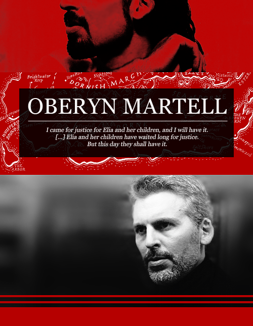 ♖ House Martell Dreamcast → Oded Fehr as Oberyn Martell