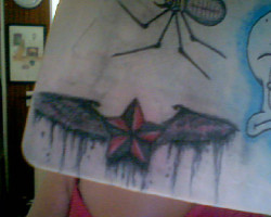 The tattoo I'm most proud of on my practice mat. <3 :)
