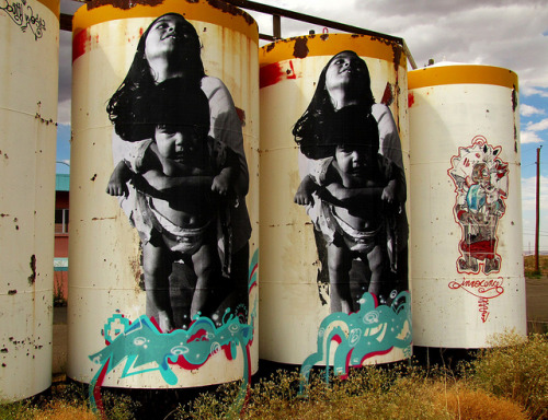 Navajo Rez Graffiti by JustaAverageGirl on Flickr.