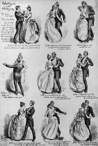 Demonstration of the Waltz, ca. 1880