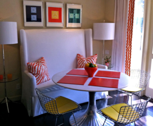 Funking out some mid century furniture in a fun breakfast room.