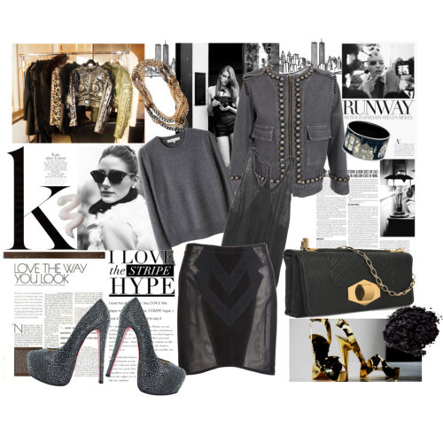 B&W by bewareofmyheels featuring a bangle bracelet