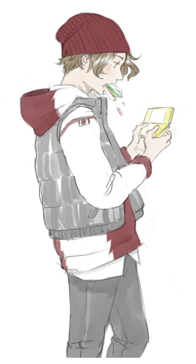 forge-on:  kaciart:  Bart for Ais ♥ I always liked Bart in his beanie in TT 8DD Ais wanted him playing Pokemon  Bart. BartBartBartBartBart. I love this boy. So much. And I love how he looks when Julie draws him. I just want to scoop him into my arms.