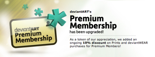 We just upgraded the deviantART Premium Membership package! *Mario mushroom sound*  Find Out More