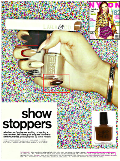 Just in time for fall, NYLON MAGAZINE features HIPPxRGB Nail Foundation in F4 in their September issue.
