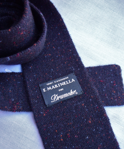 abitofcolor:  A Bit Of Color - Cashmere tie by E. Marinella for Drumohr. The colored flecks are simply irresistible. If you are headed to Milan be sure and stop by Drumohr and see their stunning cashmere sweaters, scarves and accessories…..and especially these colorful ties. -Gus