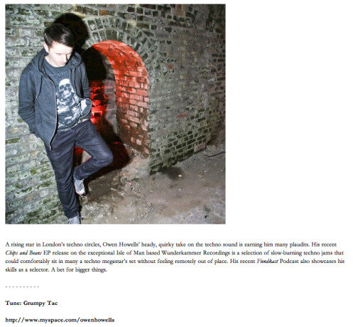 Big thanks to Bristol's premiere music & art magazine for this little mention  Check it out in full here —>http://youlovecrack.com/article/367/owen-howells/