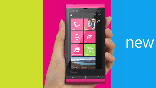 au by KDDI - Fujitsu-Toshiba IS12T Windows Phone ''feel new smart''
