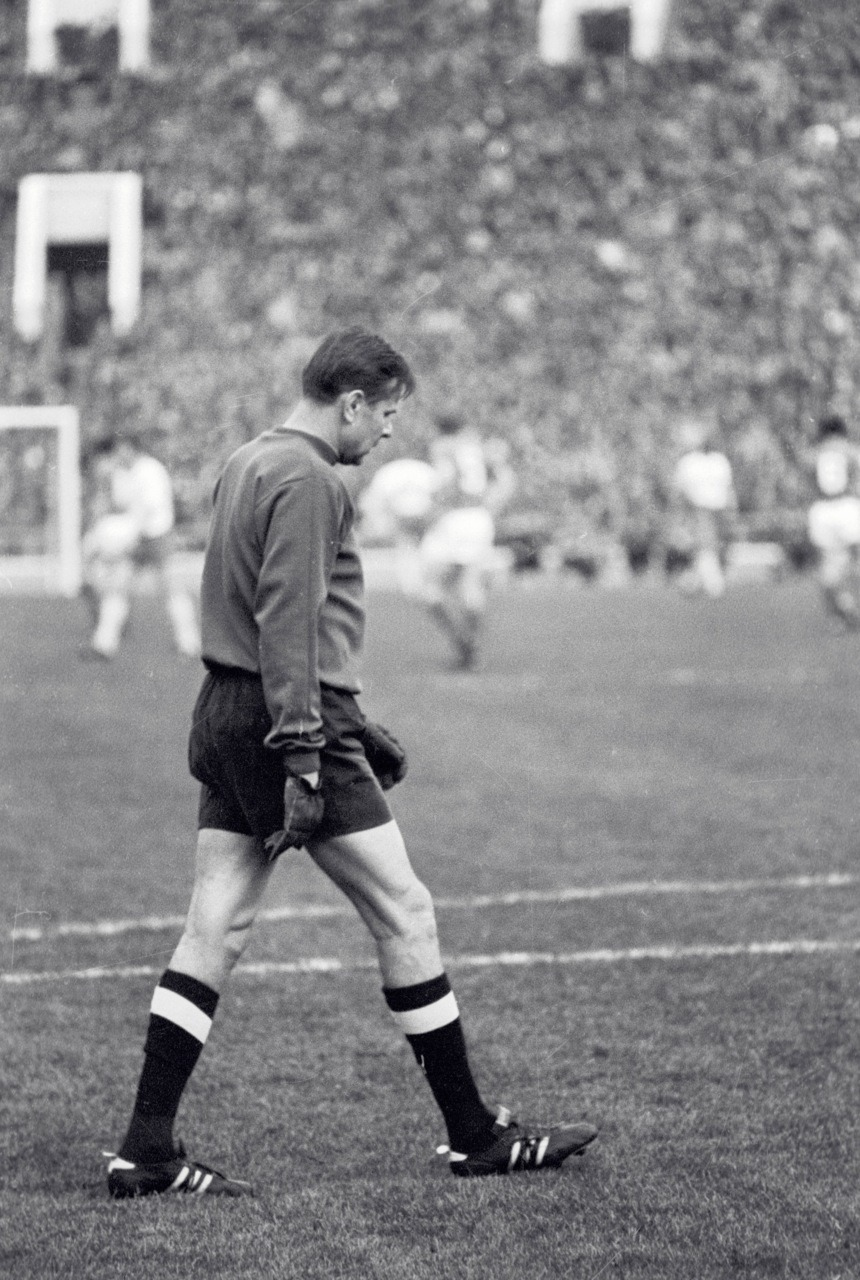 Lev Yashin during his testimonial, 1971.