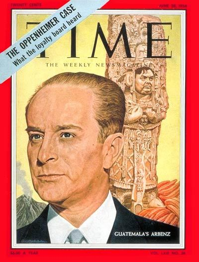 fuckyeahlatinamericanhistory:  Guatemalan president Jacobo Árbenz, who was born 98 years ago today, on the cover of the June 28, 1954 edition of Time magazine.