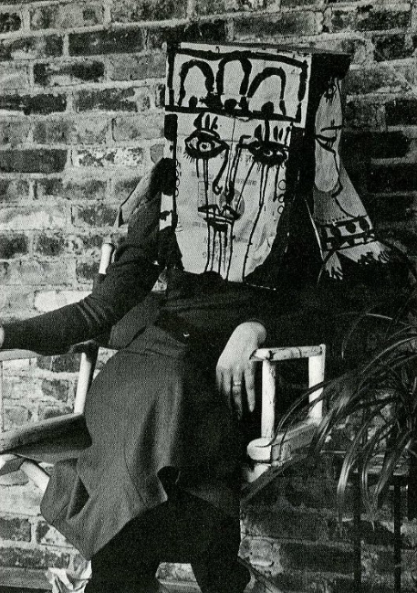 Norman Laliberté's homage to Saul Steinberg, featured in his 1973 book Masks, Face Coverings, & Headgear
