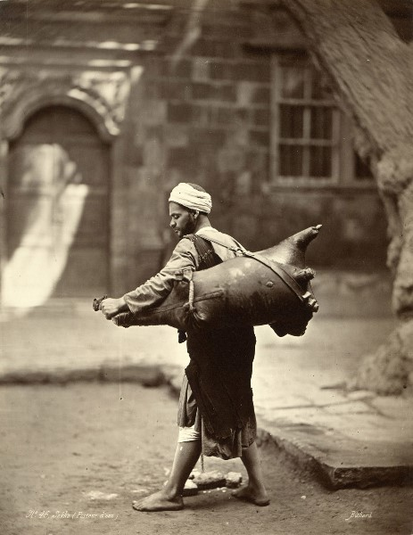qmannola:  Water Carrier, Cairo, 1875