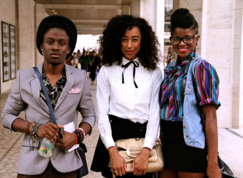 fusionkelvar:    corinne bailey rae - New york fashion week Photography by Curran J.Swint
