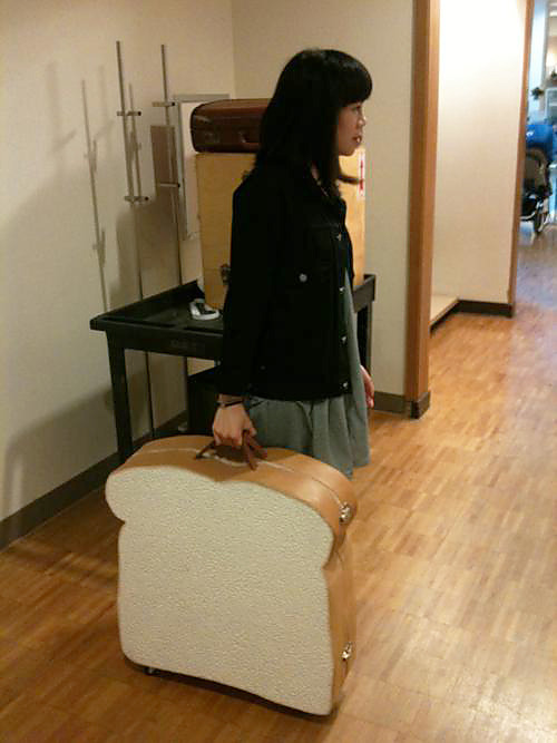 pelicaneggs:  jiinkiie2:  garrys-wife:  Wow, that case must be JAM-packed.  It'd butter be  looks like shes bready to go  my flight had better be rye-t on time