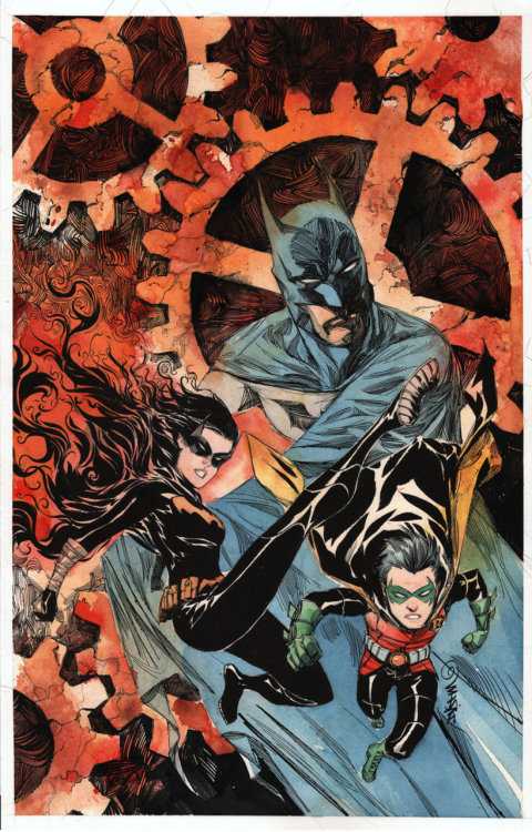 Batman: Gates of Gotham #3 variant cover art by Dustin Nguyen