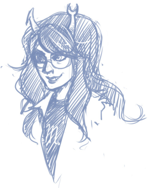 Doodling tonight, nothing good coming out. So far Vriska is the only one who has made it out alive.  I'm trying to draw my older characters 'cause my friend and I were talking about them earlier and fuck if I remember how