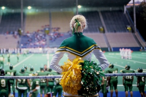 "discoverynews:  jessbennett:  What happens when a blond, blue-eyed cheerleader accuses her school's black star athlete of rape? Well, first, she's kicked off the squad for refusing to cheer for him. My report on how this three-year-old case continues to roil Silsbee, Texas.  ""The most humiliating moment for the teen came not on the night of the  alleged assault, or even on her first day back to school, where shrieks  of ""slut!"" ricocheted in the halls. It came four months later, as she  stood on the sidelines of a tournament basketball game, clutching a  pompon in each hand."" this is a must read for today…"