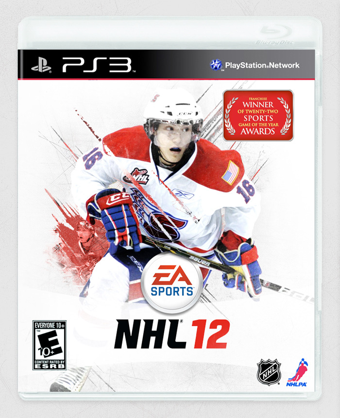 DAY 31 NHL 12 dropped yesterday, and I've been playing through the be a pro mode as Spokane Chiefs' centre, Mike Aviani (who happens to be my cousin). Figure my game could use a better cover. (actually I have an XBox 360, but I preferred the PS3 box). A lot of photo compositing went into this. There's actually 4 different photos used just for Mike o_O (CHL doesn't have amazing photos of every player or anything). Obviously couldn't do the amazingly high detailed textures of the Stamkos cover, as I'd either need a lot of patience or a super-duper high res photo. … bed time -_-