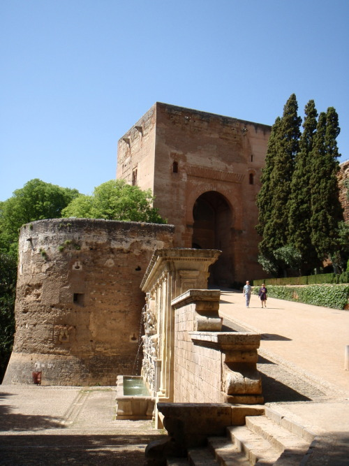 Entrance leading toward the wine gate. The Alhambra, Granada, Spain.
