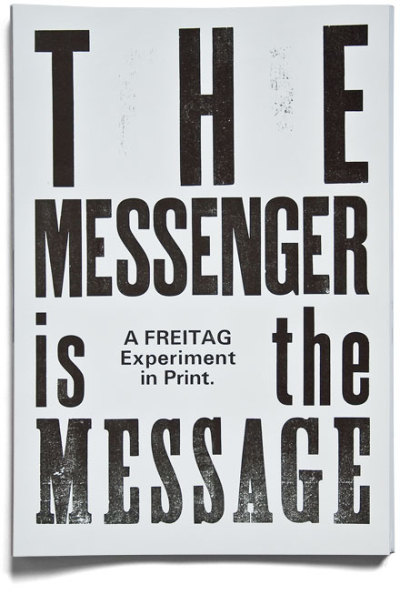 """The messenger is the message""Sounds like Clint Eastwood.Design by Studio Marcus Kraft. LINK"