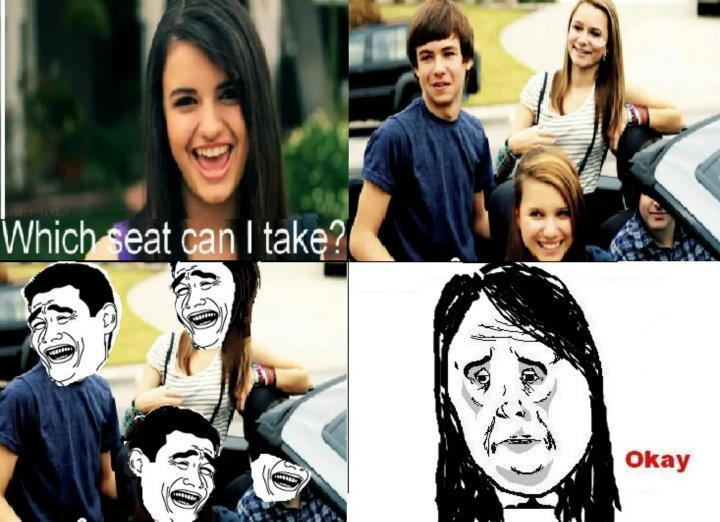 okayguycomic:  Okay Face Rebecca - Which seat can i take ?  Submitted by noneEggs