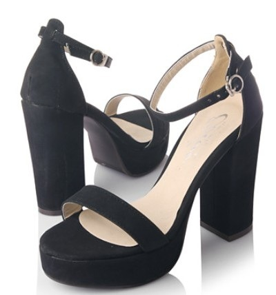 Frolicking in the Bahamas - Black P1,450  Heel height: 10cm Platform height: 2cm Colors: black, red, white, orange, turquoise Closure way: word-style buckle Size: 35 to 39 Upper material: artificial leather/ PU Feature of leather: soft leather Sole material: rubber  View sizing guide here Order now