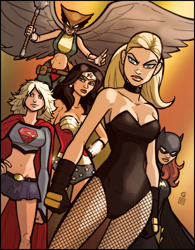 baneintheback:  The Good Girls of DC by grantgoboom  .