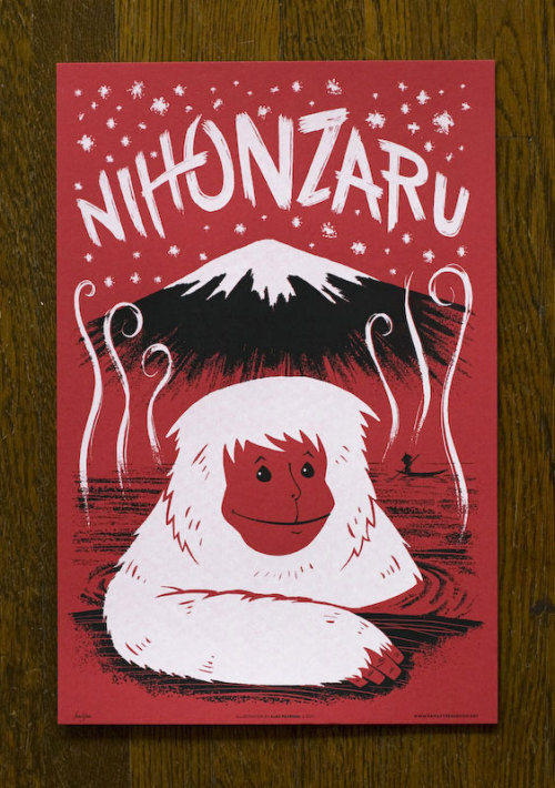 trifunkalicious:  Alex Pearson's Japanimals. Handmade illustrations of mythical creatures from the far east. Seen on Design is Blank.