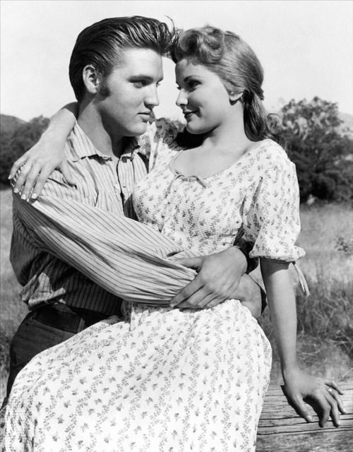 Elvis Presley and Debra Paget (1956)