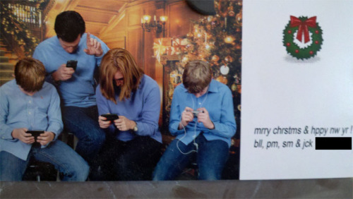 Ingenious Christmas card.