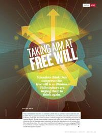"This is mindboggling!  Neuroscience vs philosophy: Taking aim at free will : Nature News The experiment helped to change John-Dylan Haynes's outlook on life. In 2007, Haynes, a neuroscientist at the Bernstein Center for Computational Neuroscience in Berlin, put people into a brain scanner in which a display screen flashed a succession of random letters1. He told them to press a button with either their right or left index fingers whenever they felt the urge, and to remember the letter that was showing on the screen when they made the decision. The experiment used functional magnetic resonance imaging (fMRI) to reveal brain activity in real time as the volunteers chose to use their right or left hands. The results were quite a surprise. ""The first thought we had was 'we have to check if this is real',"" says Haynes. ""We came up with more sanity checks than I've ever seen in any other study before."" The conscious decision to push the button was made about a second before the actual act, but the team discovered that a pattern of brain activity seemed to predict that decision by as many as seven seconds. Long before the subjects were even aware of making a choice, it seems, their brains had already decided. As humans, we like to think that our decisions are under our conscious control — that we have free will. Philosophers have debated that concept for centuries, and now Haynes and other experimental neuroscientists are raising a new challenge. They argue that consciousness of a decision may be a mere biochemical afterthought, with no influence whatsoever on a person's actions. According to this logic, they say, free will is an illusion. ""We feel we choose, but we don't,"" says Patrick Haggard, a neuroscientist at University College London. (via jfs1)"
