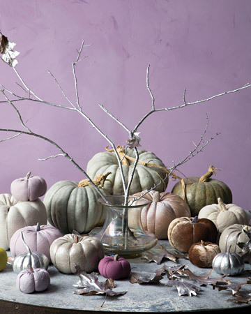 How fun, fabric pumpkins!