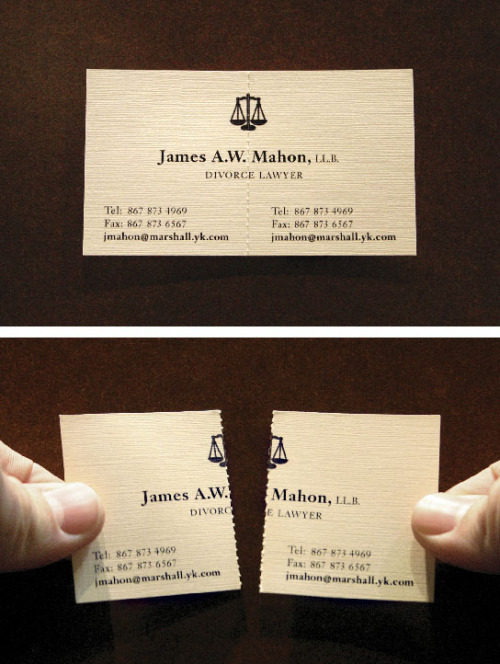 Divorce Lawyer – Business Card