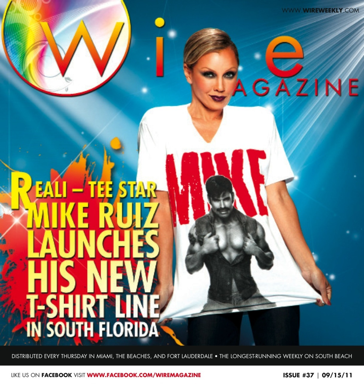 Wire Magazine Issue 37: Mike Ruiz Launches New T-Shirt Line In South Florida. When it comes to celebrities and fabulous soirees no one throws a party like South Florida. South Florida welcomes celebrity photographer and A-List reality star, Mike Ruiz to its sandy shores. Mike Ruiz is a lumber-jack of all trades.  He's been a high fashion model, celebrity photographer, reality TV star, book author, and now, designer.  Yes, you heard that right, a designer.  Mike recently launched his new tee shirt line called The Mike Ruiz Collection, of course.  The man behind incredible images of stars like Kim Kardashian, Lindsay Lohan, and Ricky Martin comes to Living Room in Fort Lauderdale to promote his new tee shirt line by signing his latest creations. We caught up with Mike to get the inside scoop on his new line, experiences as a photographer, and his future.  ALSO INSIDE: Wire Magazine Publisher's memoir of 9/11 Read about New LIVE performances coming to Palace Wire Magazine Photo Albums of Last Week's Events & Parties Wire Magazine This Week: The weekly full listing of upcoming events and parties