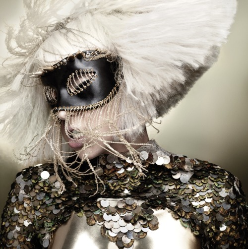 hmagazine:  Lady Gaga, The Fame Monster photoshoot by Heidi Slimane.