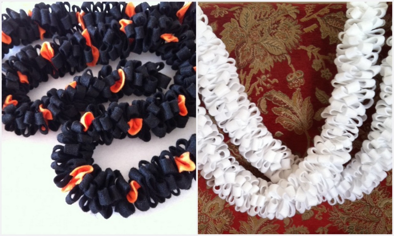 truebluemeandyou:  DIY Super Easy Felt Halloween or Winter Holiday Garland. Turorial Found at Sparkle here.