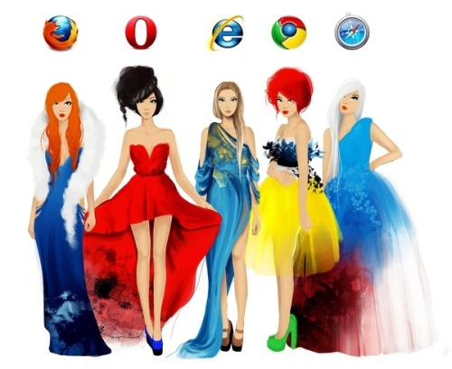 buzzfeed:  [If Web Browsers Were Women]  I'm pretty sure Safari would be a broken old librarian.