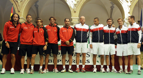 loveequalsnothing:  Spain will play France on Davis Cup's semi-finals