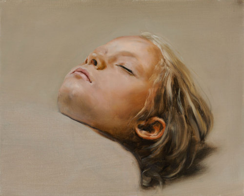 Michael Borremans. gorgeous brush work, the paint looks so thick and seductive.