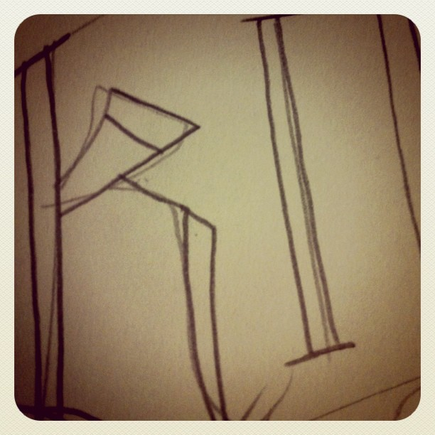 Sneak peek of the process for K! (Taken with instagram)
