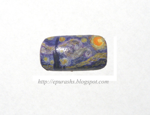 womensdelight:   Van Gogh's Starry Night on nails