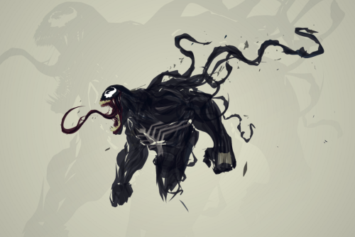 timetravelandrocketpoweredapes:  Venom by Justin Currie Artist: deviantart / blogspot (via Justin's tumblr: chaseartwork)  .
