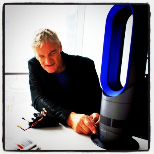 Sir James Dyson stopped by our office to demo his new Hot Fan Heater. Are you a fan of his vacuum cleaners? Blogger's note: I own this one! Works like a dream. (picture via @noahr)