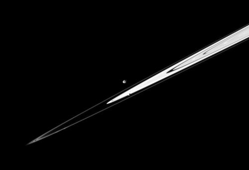 Saturn's rings on a diagonal from NASA/JPL/Space Science Institute