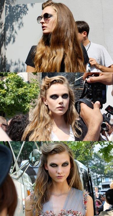 "aestheticfeast:  Some photos I took outside Rodarte. Click to read more.  and to see a ""party pic"" of Hannah and I at the Advanced Style party!"